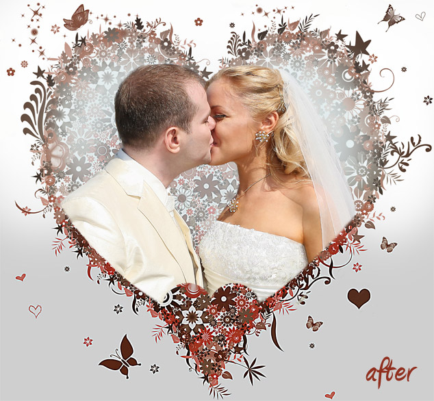 wedding photo background editing